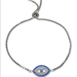 Evil Eye Bolo Bracelet Sterling Silver